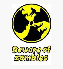 zombie zombies halloween apocalypse monster scary dark night Photographic Print