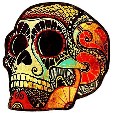 Grunge Skull (Sticker-mirrored) by KerstinSchoene