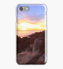 Bass Harbor Lighthouse Sunset Seascape iPhone Case/Skin