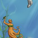 Octopus Mermaid and Seal by burritomadness