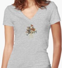 Blood Dolphin Crescendo Women's Fitted V-Neck T-Shirt