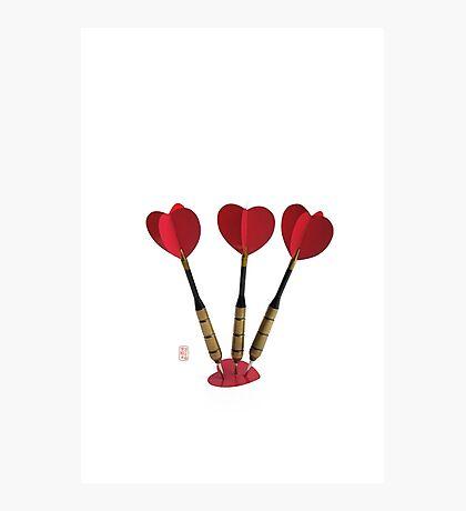 Valentines Target Photographic Print