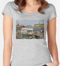 Peggy's cove through a lobster trap Women's Fitted Scoop T-Shirt