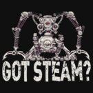 Steampunk / Cyberpunk Robot 'Got Steam?' Steampunk T-Shirts by Steve Crompton