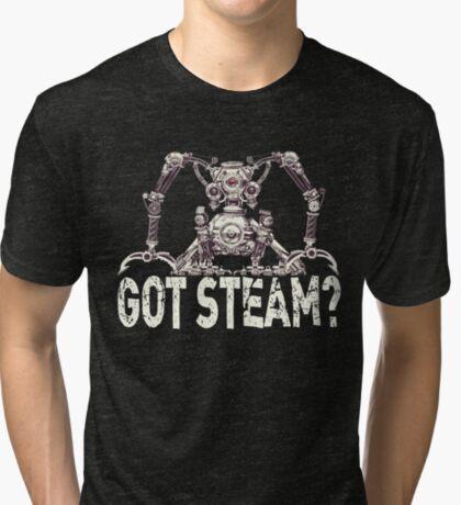 Steampunk / Cyberpunk Robot 'Got Steam?' Steampunk T-Shirts Tri-blend T-Shirt