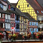 Colored houses in Colmar by annalisa bianchetti