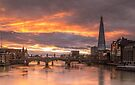 Fire in the sky, London by Cliff Williams