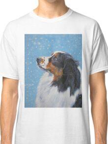 Australian Shepherd Fine Art Painting Classic T-Shirt