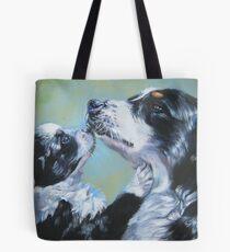 Australian Shepherd Fine Art Painting Tote Bag