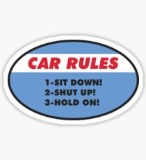 Funny Car Rules Sticker Sticker