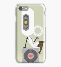 glaDOS+companion cube iPhone Case/Skin