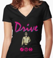 Drive Movie Women's Fitted V-Neck T-Shirt
