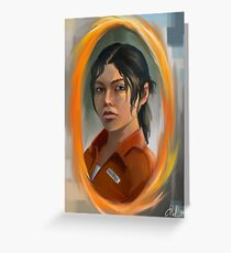 chell (portal 2) Greeting Card