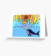 whale creating the sea Greeting Card