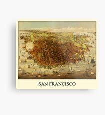 Vintage Historic San Francisco Map Metal Print