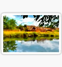 Rural landscape Sticker