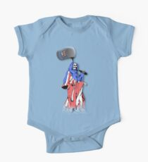 SKULL STATUE AND UNITED STATES FLAG One Piece - Short Sleeve