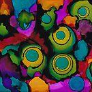 Turquoise circles - horizontal by Betsy Ellis