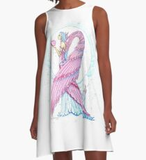Breast Cancer Angel Fighting for the Cure, Pink Warrior A-Line Dress