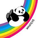 Happy Rainbow Panda by stylecomfy