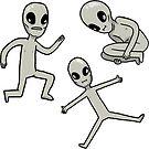 smol aliens sticker set by geothebio