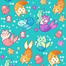 Cat Mermaids by aimeekitty