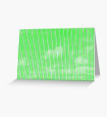 Cloud3frameD -C- White&Green Greeting Card