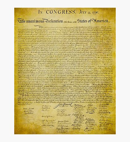 Declaration of Independence Photographic Print