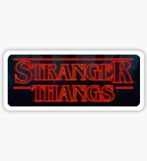 """stranger thangs"" - the walking dead and stranger things sticker Sticker"