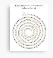 Alice's Adventures in Wonderland Braid Canvas Print
