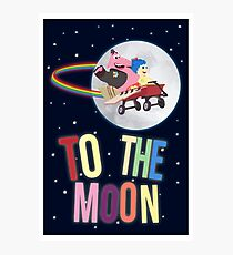 To The Moon! Photographic Print
