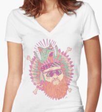 Camiseta entallada de cuello en V Todo Bronson estadounidense