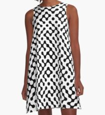Continuous   halftone background A-Line Dress