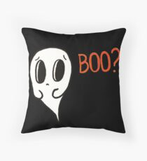 Apprehensive Ghost Throw Pillow