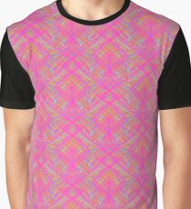 Crosshatched Pink Graphic T-Shirt