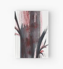 Crimson in the Mist - India ink bamboo wash painting Hardcover Journal