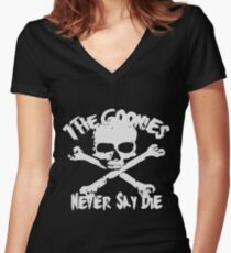 The Goonies Never Say Die Women's Fitted V-Neck T-Shirt