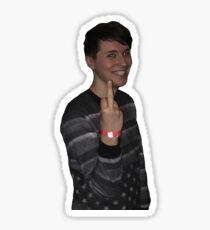 danisnotonfire middle finger Sticker