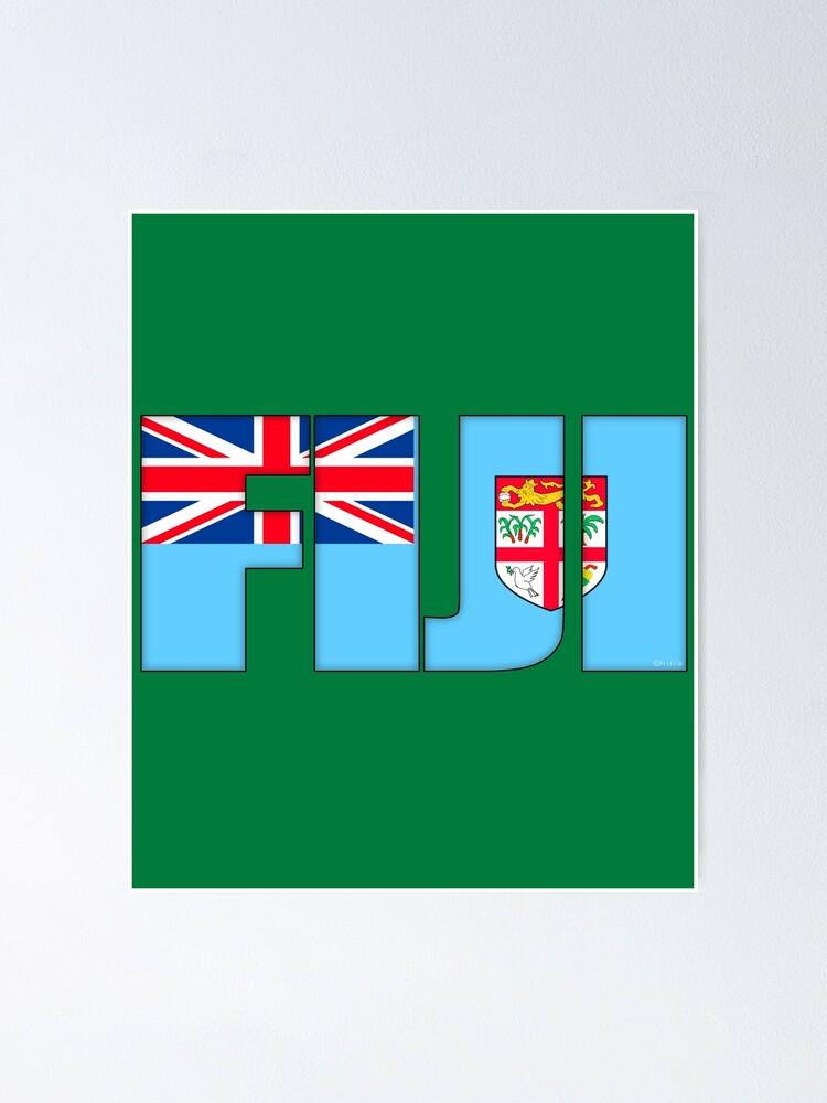 Fiji Flag Poster