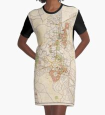 Map of Canberra 1927 Graphic T-Shirt Dress