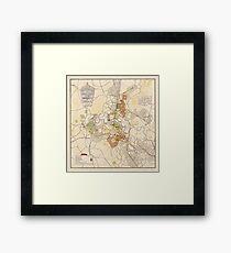 Map of Canberra 1927 Framed Print