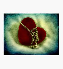 Heart and pearls Photographic Print