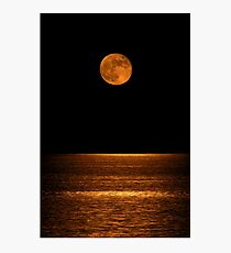 Harvest Moon Over Clear Lake Photographic Print