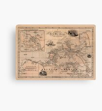 Map of the Northwest Passage 1856 Canvas Print