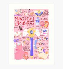 Magische Mädchen-Wesensmerkmale! Kunstdruck