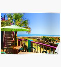 Beach View by Jan Marvin Poster