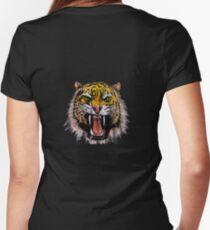 Tekken - Heihachi Tiger Women's Fitted V-Neck T-Shirt