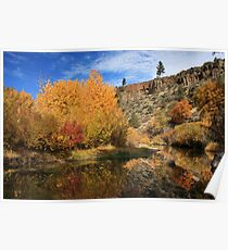 Autumn Reflections In The Susan River Canyon Poster