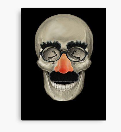 Died Laughing - Skull Canvas Print