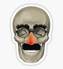 Died Laughing - Skull Sticker